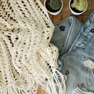 Club Monaco Vintage Crochet Vest